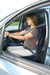Activa disc som lændestøtte i bilen