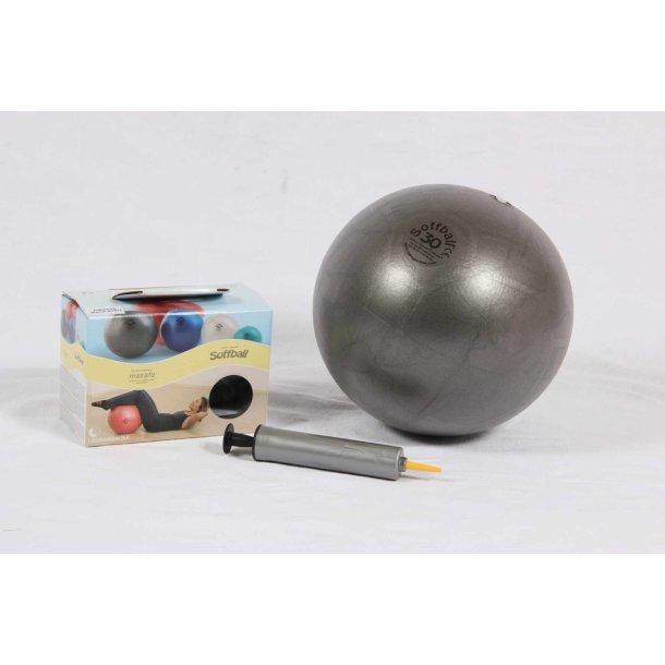 Pilatesbold grå 30 cm kit incl. pumpe