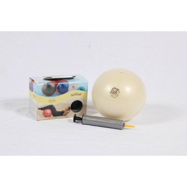 Pilatesbold hvid 22 cm kit incl. pumpe