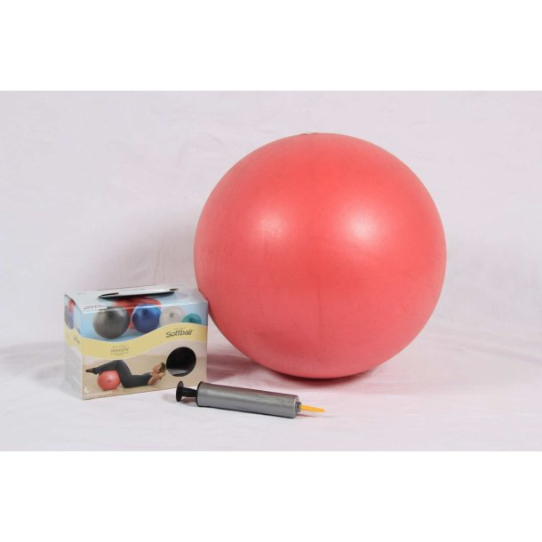 Pilatesbold rød 40 cm kit incl. pumpe